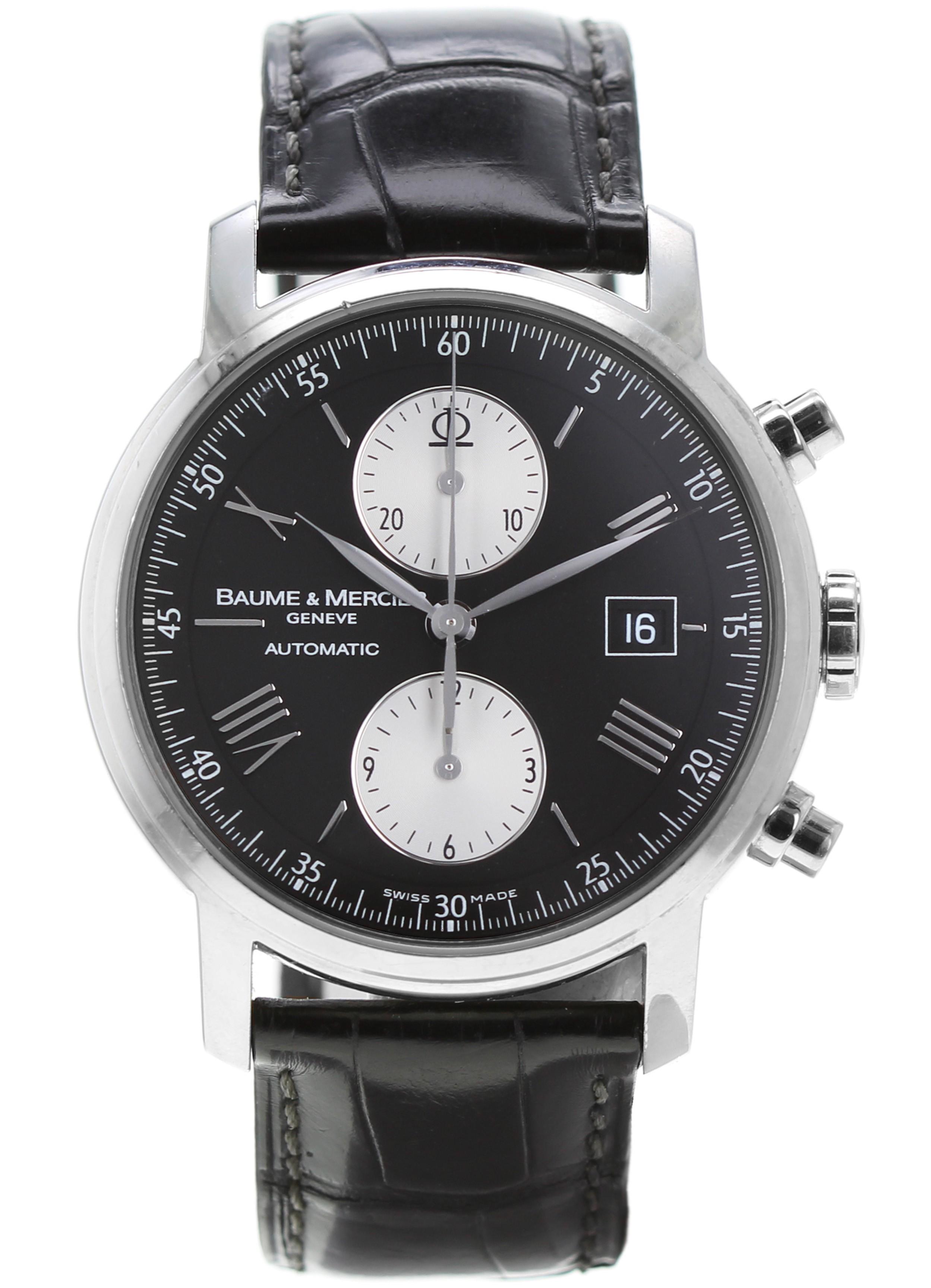 ddccb80d04dba1 BAUME & MERCIER Classima Executives XL Automatic - Leather Bracelet - Steel  case