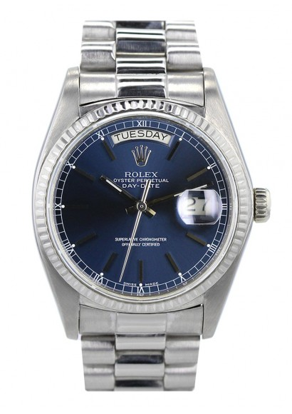 3d9c3ef9b2d15 Automatic watch Rolex Day-Date white gold - Luxury watch