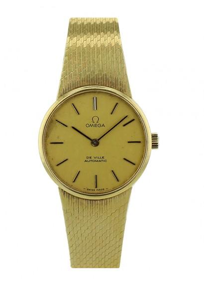 omega speedmaster automatic khronos 18k gold watch