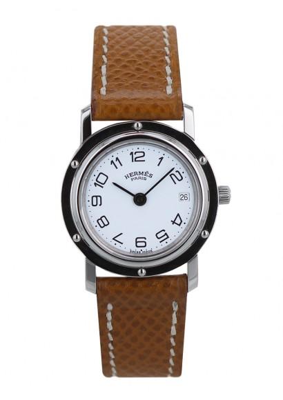 5ece79ca8bb8 Montre Hermès Clipper acier d occasion, Montres de Luxe - Kronos360
