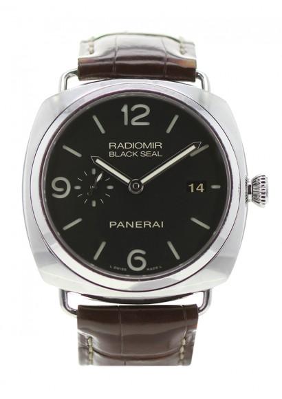 9645385dc277a PANERAI Radiomir Black Seal 3 Days - Ref PAM00388 Automatic - Leather  Bracelet - Steel case