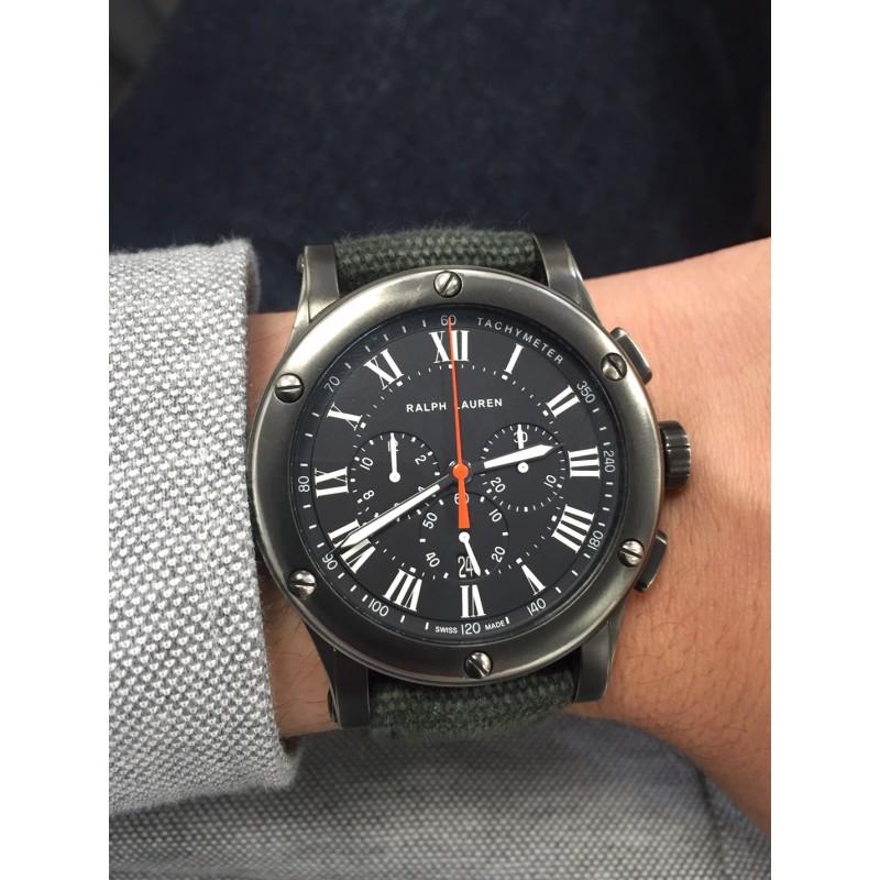 RALPH LAUREN Safari RL67 Chronographe Automatic - Bracelet Nylon - Steel  case fd3f31019c40e