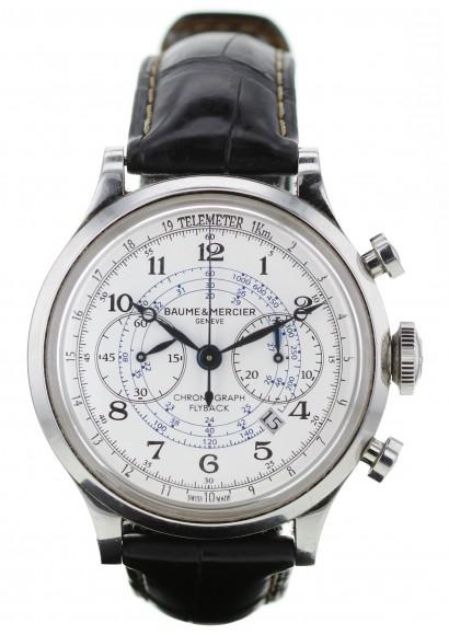 nouvelle collection f6e86 7162c Luxury watch Baume & Mercier Capeland Chronographe Flyback ref: MOA10006